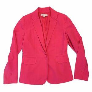 New York & Company Hot Pink Blazer Jacket Size 6
